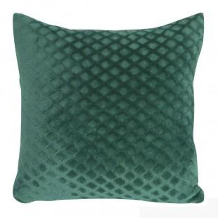 Obliečka na vankúš zelená s geometrickým vzorom