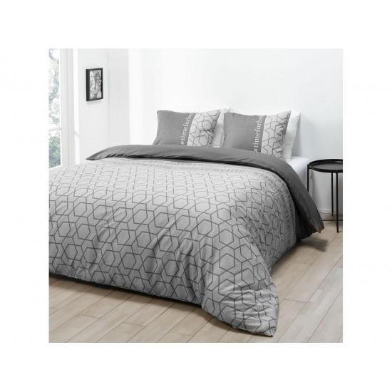 Vzorované posteľné obliečky sivej farby HASHTAG