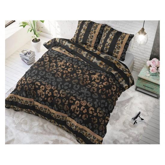 Tmavé posteľné obliečky so zvieracím vzorom