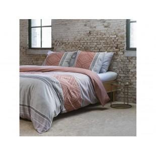 Moderné sivé posteľné obliečky s hnedým vzorom