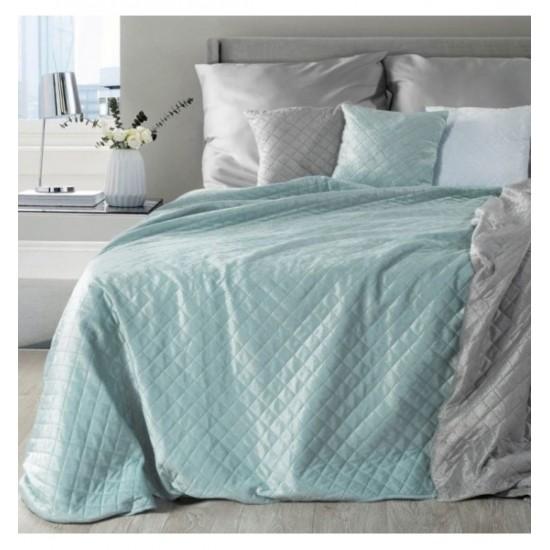 Mäkká prikrývka na posteľ z plyšu s prešívaním
