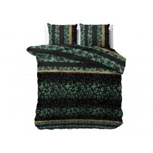 Zeleno sivé posteľné obliečky so zvieracím motívom