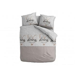 ALWAYS FOLLOW YOUR HEART béžové posteľné obliečky