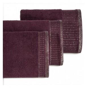 Bordový bavlnený uterák so striebornou výšivkou
