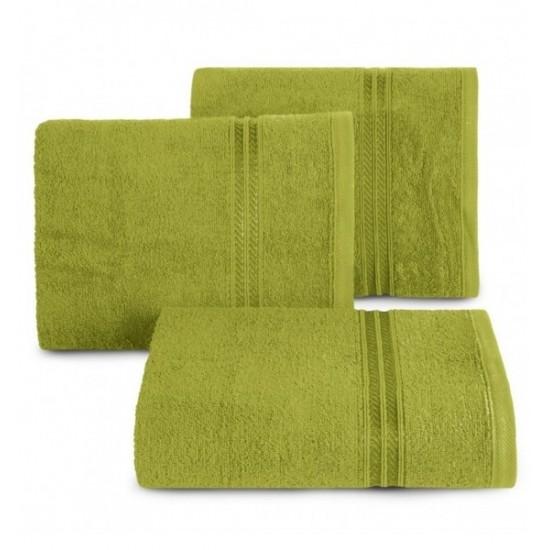 Bavlnený uterák v olivovo zelenej farbe