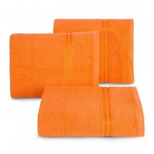 Oranžový bavlnený uterák s ozdobným pruhom