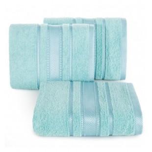 Modrý luxusný bavlnený uterák