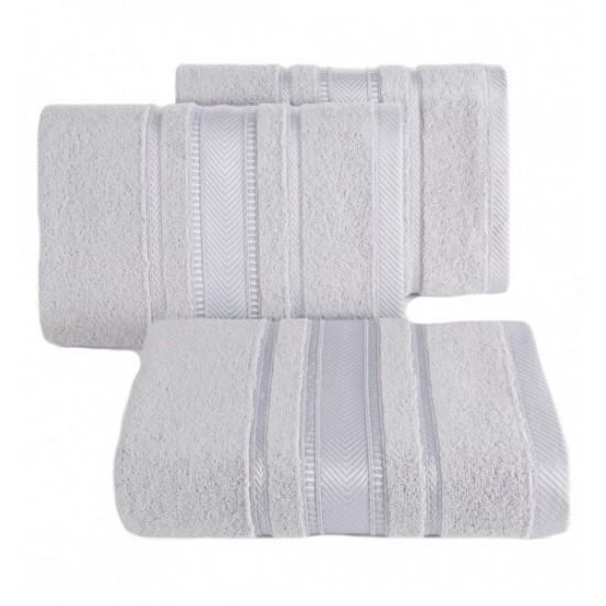 Strieborný elegantný bavlnený uterák do kúpeľne