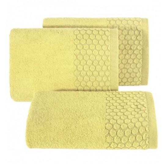 Žltý uterák z bavlny s kruhovým vzorom