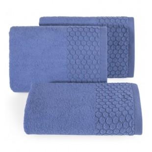 Tmavomodrý jednofarebný uterák z bavlny