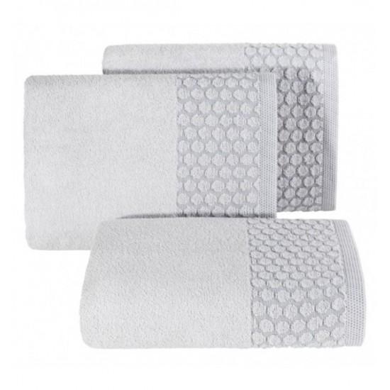 Strieborný uterák z bavlny s kruhovým vzorom
