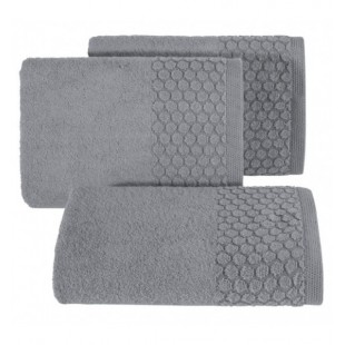 Tmavosivý uterák z bavlny s kruhovým vzorom
