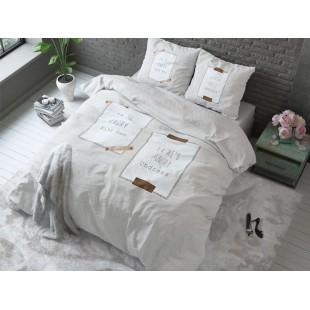 Krémové posteľné obliečky pre páry ANGRY
