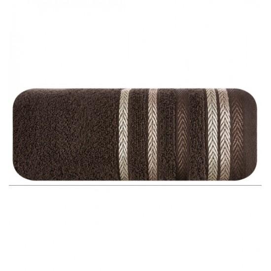 Hnedý bavlnený kúpeľňový ručník
