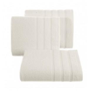 Krémový jednofarebný bavlnený uterák do kúpeľne