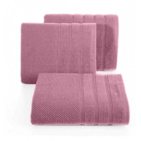 Lilavý jednofarebný bavlnený uterák do kúpeľne
