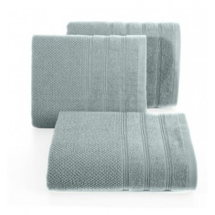 Sivo mentolový jednofarebný bavlnený uterák do kúpeľne