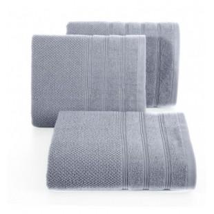 Strieborný jednofarebný bavlnený uterák do kúpeľne