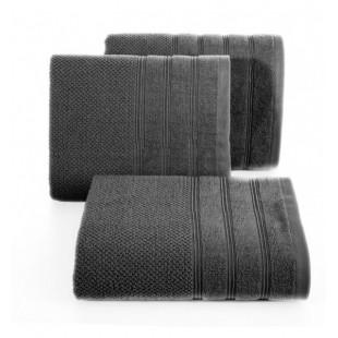 Tmavosivý jednofarebný bavlnený uterák do kúpeľne