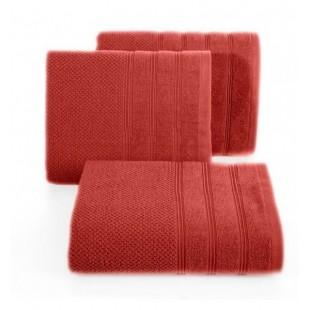 Tehlový jednofarebný bavlnený uterák do kúpeľne
