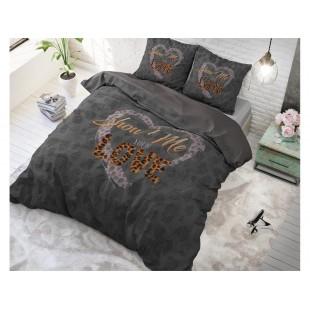 Romantické posteľné obliečky z bavlny so srdcom SHOW ME