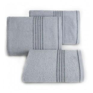 Strieborný bavlnený uterák do kúpeľne s výšivkou