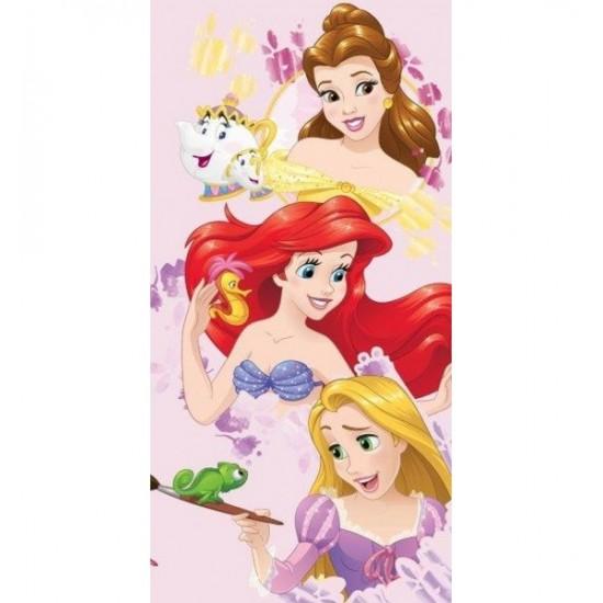 Ružová dievčenská osuška s Disney princeznami