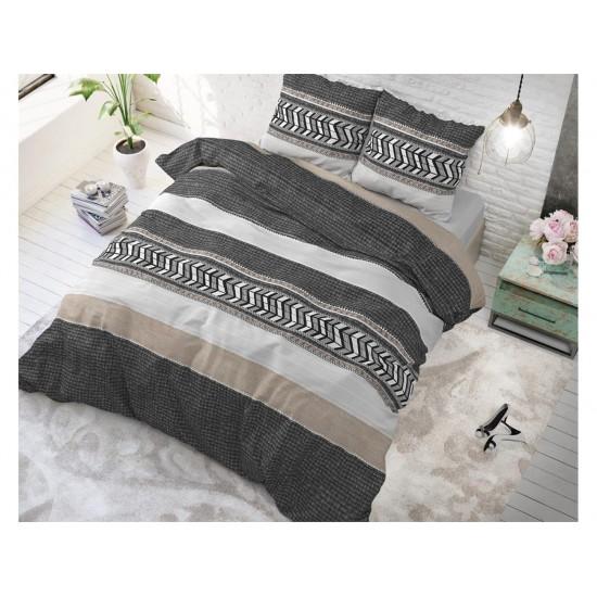 Pruhované posteľné obliečky so vzorom