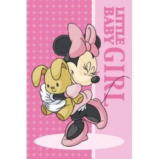 Dievčenský ružový uteráčik s motívom Minnie