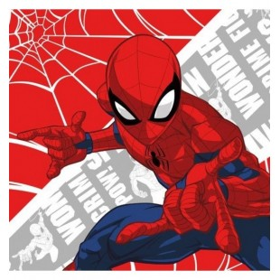Štvorcový skladací ručník Spiderman