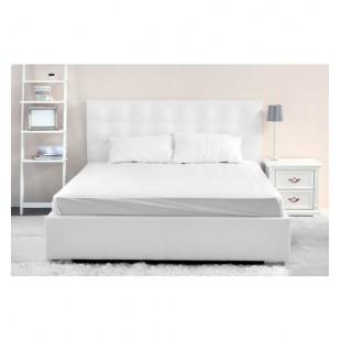 Biela posteľná plachta z mikrovlákna bez napínacej gumičky