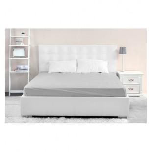 Sivá mikrovláknová posteľná plachta bez napínacej gumičky