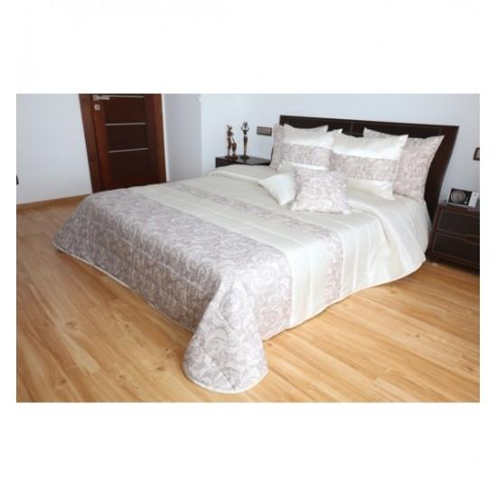 Elegantný pieskovo béžový prehoz na posteľ