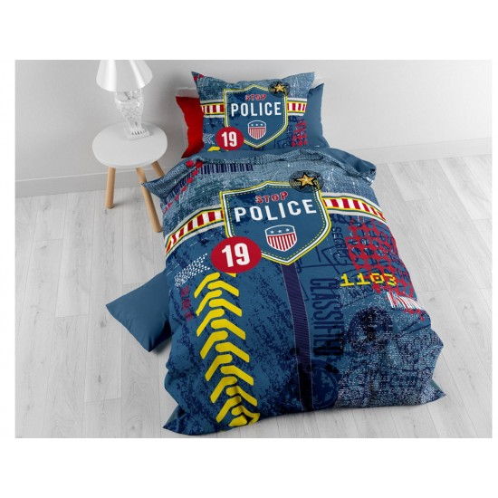 Detské posteľné obliečky s motívom polície