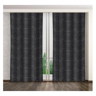 Sivý lesklý elegantný záves na okno so strieborným vzorom