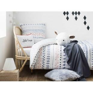 Biele detské posteľné obliečky s motívom lesa a líšky