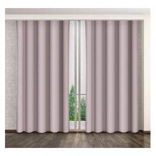 Matný jednostranný záves na okno ružovej farby