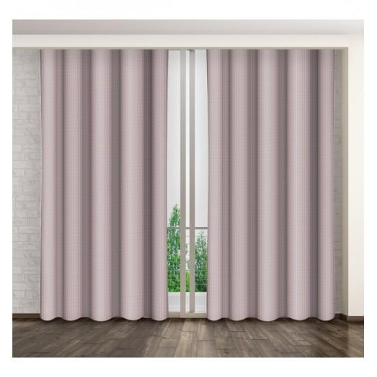 Matný jednofarebný záves na okno ružovej farby