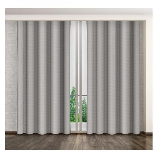 Matný jednostranný záves na okno sivej farby