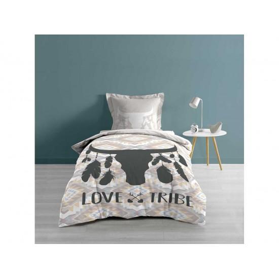 Vzorované posteľné prádlo z bavlny na jednolôžko s indiánskym vzorom
