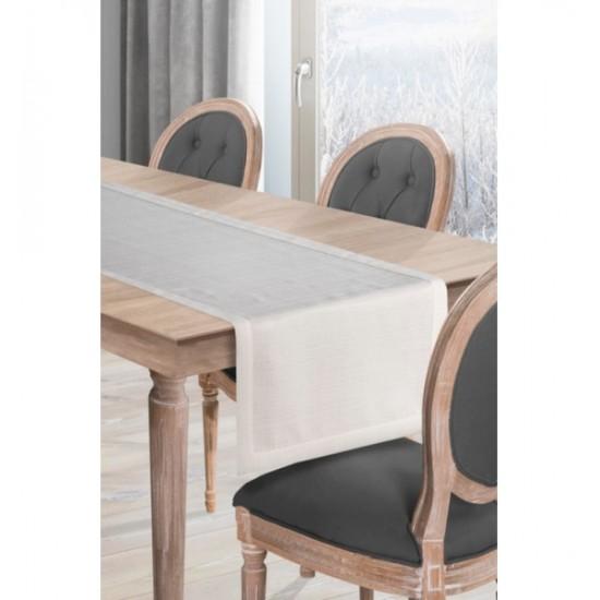 Lesklý krémový behúň na stôl