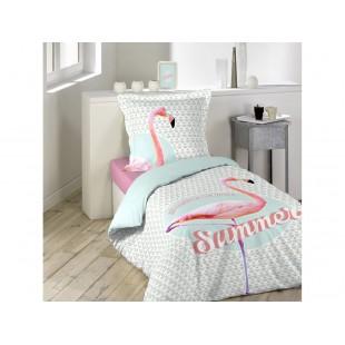 Bavlnené posteľné obliečky s letným motívom pelikána