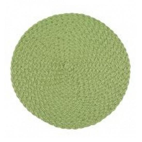 Zelené kruhové prestieranie na stôl