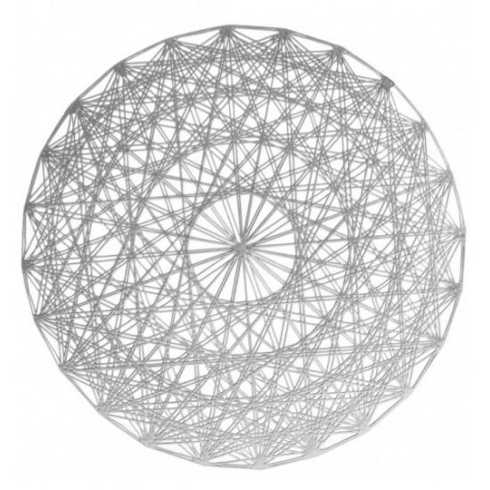 Dekoračné strieborné kruhové prestieranie na stôl