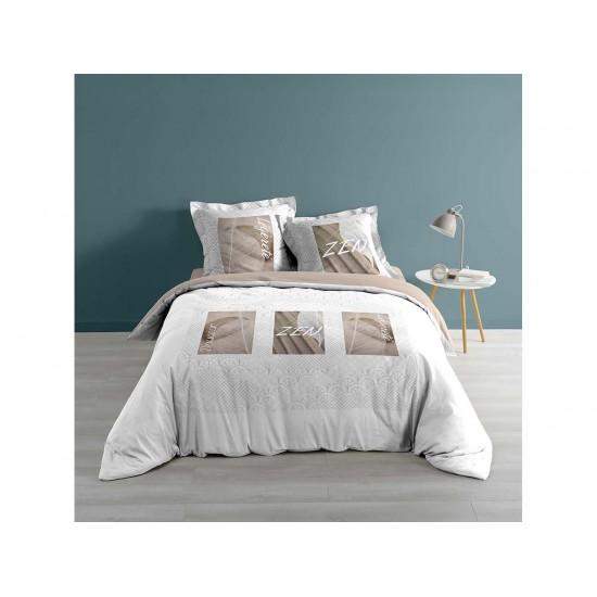 Francúzske posteľné obliečky na dvojpaplón v zemitých farbách