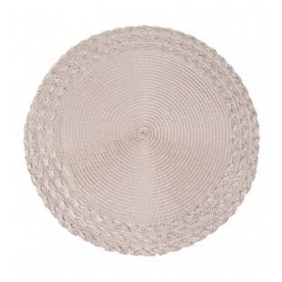 Púdrové elegantné kruhové prestieranie na stôl