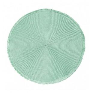 Kruhové zelené prestieranie na stôl