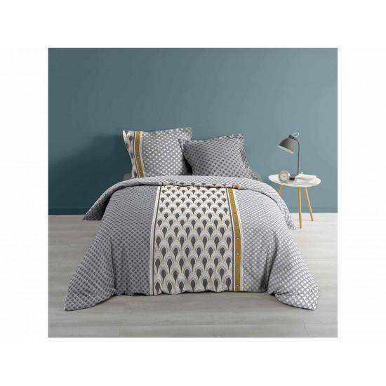 Bavlnené obojstranné posteľné obliečky s francúzskými vzormi