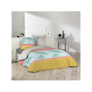 Vzorované farebné posteľné obliečky z bavlny TROPICANA