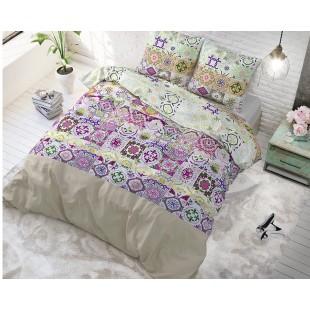 Ružovo krémové posteľné obliečky s marockým vzorom